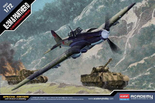 ACADEMY 1/72 Ilyushin Il-2M Stormovik & Pz.kpfw.v Ausf.d Panther #12538