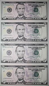 five dollar haircut sheet of 5 five dollar bills genuine us un cut 3704