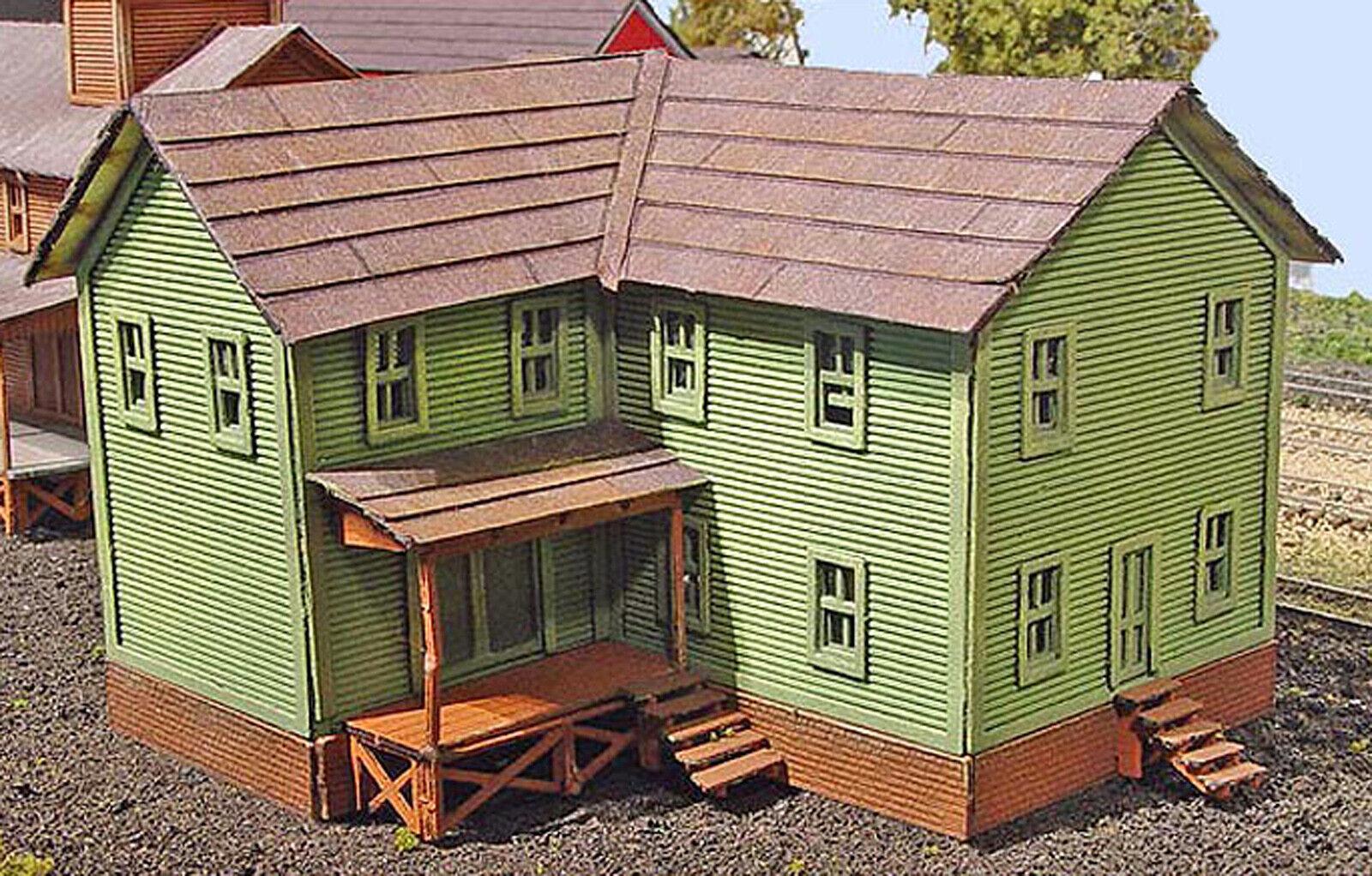 CALDWELL TOOL & DIE N Scale Model Railroad Structure Unpainted Laser Kit LA885