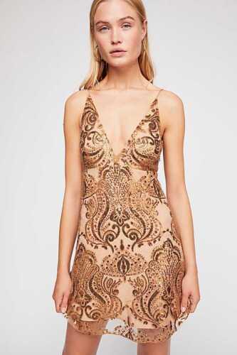 NEW Free People Night Shimmers Mini Dress