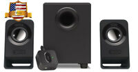 Logitech Computer Pc Speakers 2.1 Stereo Sound System With Subwoofer Bass