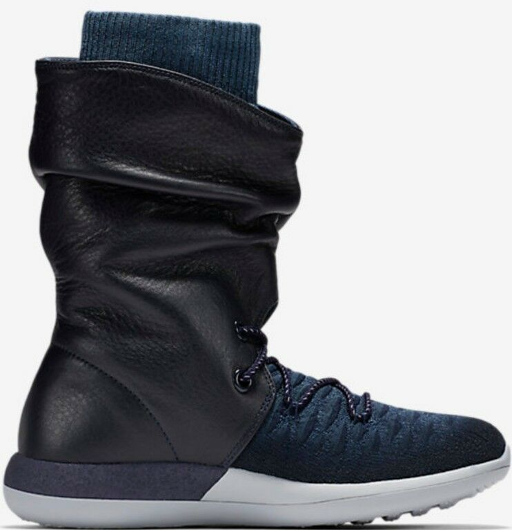 Nike femmes  Roshe Two Hi Hi Two Flyknit Bottes Noir and Navy Ladies Uk 5 861708 400 Bnib b1233a