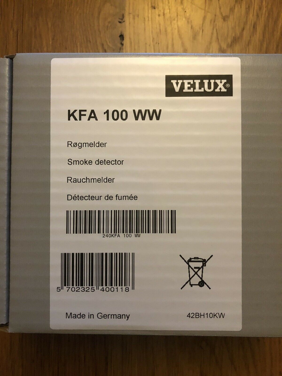 VELUX KFA WW 100 Smoke Detector for
