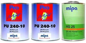 Mipa 2k Lack Ral 7016 Anthrazitgrau Matt 3 Liter Set Mp19 Ebay