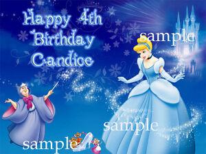 PRINCESS-Edible-ICING-Image-Photo-CAKE-Topper-Decoration-Cinderella