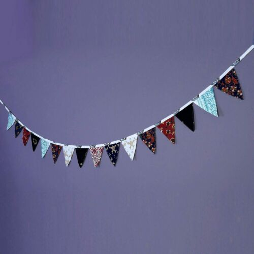 Indian Mandala Print Bunting Banner Fabric Flag Garland Party Hanging Decor 11FT