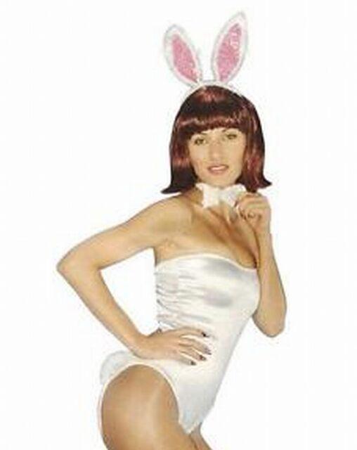 Bunny Playboy Adults Child White Rabbit Ears Headband Easter Birthday Hen Party