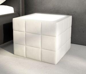 Bett Box Nachttisch Nachtschrank Couchtisch Tisch Led Kunstleder