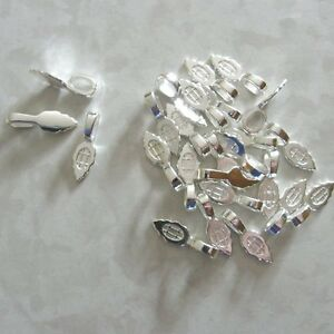 Aanraku Bails - 50 Large Silver-Plated Pendant Bails lPrYSx