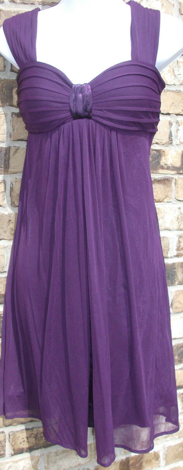 NWOT Genuine S.L. FASHIONS sleeveless purple mini party dress, size 8