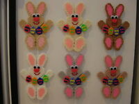 Happy Bunny Handmade Plastic Canvas Magnet - You Pick Your Favorite Color