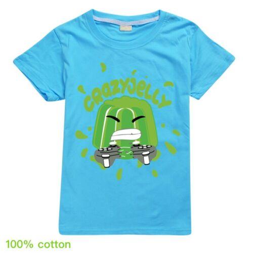 HOT Crazy Jelly Verde T-shirt Ragazzi Ragazze 100/% Cotone Estate T-shirt Top Regalo