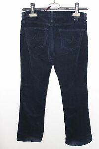 ADRIANO-GOLDSCHMIED-AG-WOMENS-THE-ANGEL-NAVY-BLUE-BELL-BOTTOM-CORDUROY-PANTS-26R