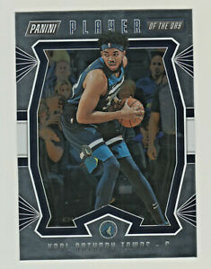 2019-20-Panini-PLAYER-OF-THE-DAY-FOIL-PARALLEL-KARL-ANTHONY-TOWNS-Timberwolves