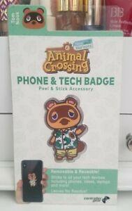 New * Animal Crossing New Horizons * TOM NOOK * Phone & Tech Badge Accessory