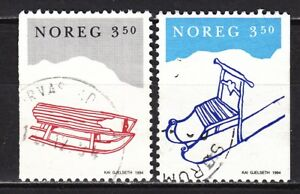 NORWAY-1994-used-SC-1070-1071-Christmas