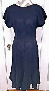 Dress-LIZ-CLAIBORNE-DRESSES-PETITES-Womens-Size-8-Black-Fitted-Flared-Bottom-NWT