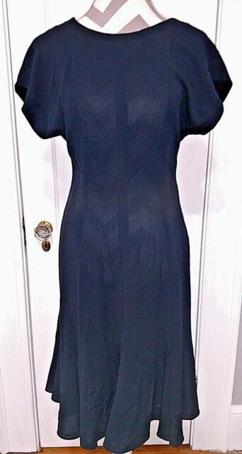 Dress LIZ CLAIBORNE DRESSES PETITES Womens Size 8 Black Fitted Flared Bottom NWT