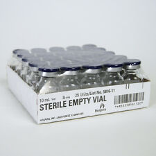 25 x Clear 5 ml Depyrogenated and Sterile Vials.UK Stock, Free P&P. Mix HCG Etc