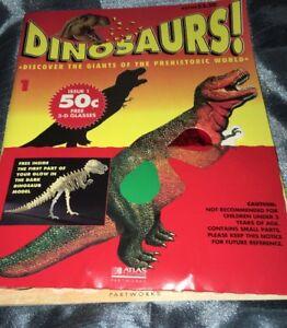 Dinosaurs! Atlas Editions Partworksissu<wbr/>e #13D Glasses Model 1993
