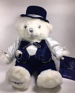 2000-Millennium-18-034-Plush-White-Teddy-Bear-Special-Edition-Snowflake-male