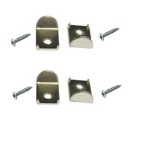 Miroir Clips Quantité 4 /& vis numéro de pièce m/&j Products 5678 Zinc Plaqué