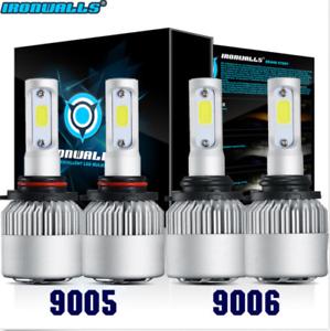 Low Beam 6K Kit HB3+HB4 9005+9006 LED Bulb 2600W 390000LM Combo Headlight High