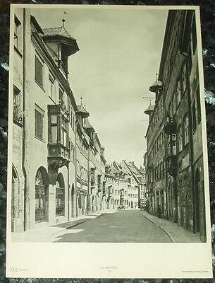Offen Nürnberg Tucherstraße: Alte Tafel Fotographie Städteansicht Bayern Franken Eine VollstäNdige Palette Von Spezifikationen