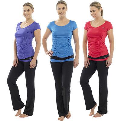2019 Mode Damen Fitness Yogahose T-shirt Top Fitnessstudion Übung 3/4 Böden Pilates Mit Traditionellen Methoden