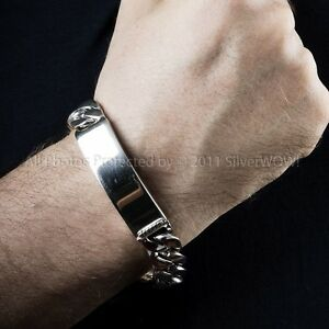 Mens Id Ideny Bracelet 15mm Wide