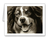 Australian Shepherd Note Cards By Watercolor Artist Dj Rogers