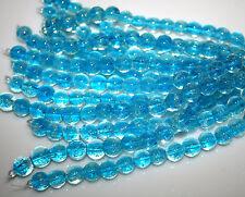 Glow in the Dark Glass beads Bright AQUA Round Shape 10mm 1 Strand 15 beads