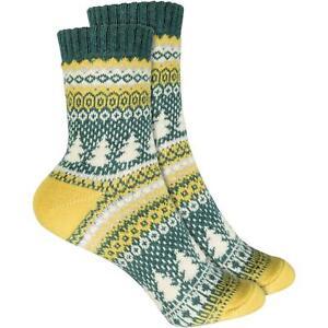 Cosey Dicke Socken - Xmas-tree Gelb 33-40 2 Paar - Baumwolle Atmungsaktiv Weich Seien Sie In Geldangelegenheiten Schlau