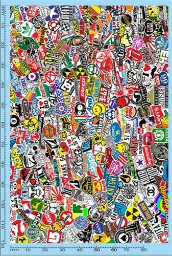 Stickerbomb Flächenmuster No.7 Decal 1:24 Decal Abziehbilder