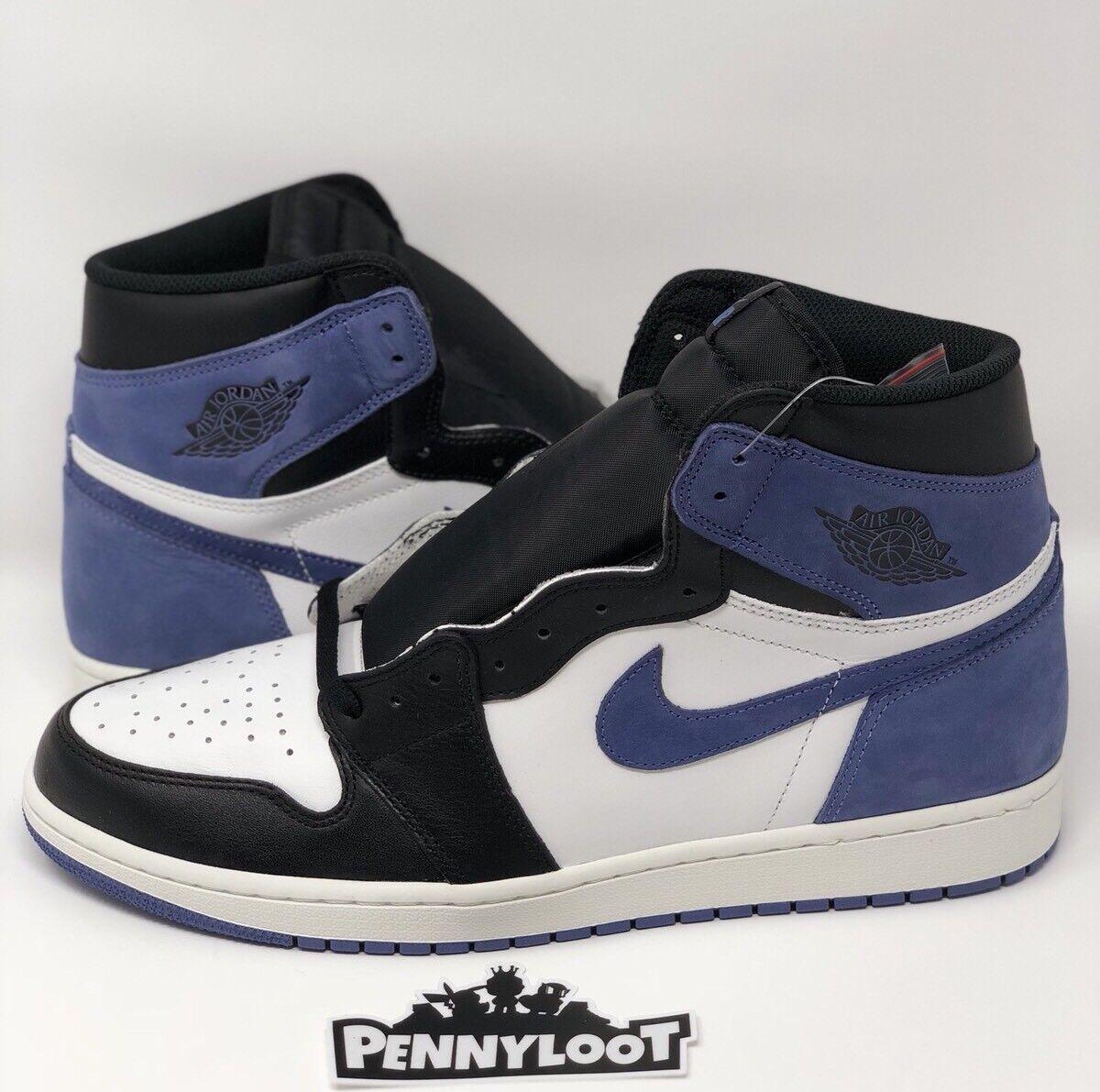 Nike Air Jordan 1 High OG Blue Moon Size 13 Bred Toe Royal Shadow Top 3 Gold Toe