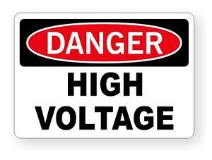 """DANGER HIGH VOLTAGE STICKER DECAL STANDARD 3.5/""""X5/"""""""