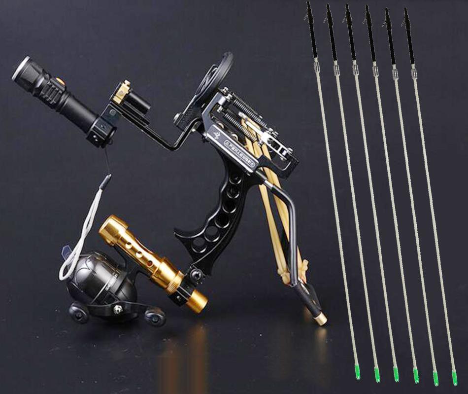 Pro Slingshot Hunting Catapult Arrow Rest Archery Laser Slingbow & Fishing Arrow