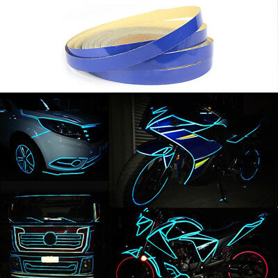 Bike Car Motorcycle Wheel Rim Reflective Sticker Tape Luminous Warning D6D5