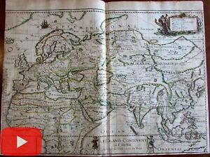 Africa-Europe-Asia-India-China-1679-DuVal-World-map-rare-folio-sheet