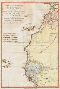 Cartina Geografica Canarie.Carta Geografica Antica 1700 Africa Canarie Capo Verde Ebay