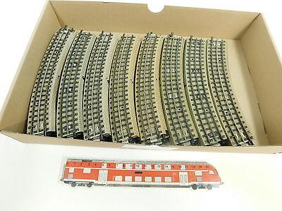 Bc65-2# 40x Märklin H0/00/ac Pezzo Di Binario/ferrovia M-binario F. 3600/800/capo Fondi-iene M-gleis F. 3600/800/mittelleiter It-it Mostra Il Titolo Originale