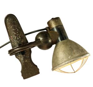 Arbeits-Leuchte-Kroes-Klemm-Lampe-Vintage-Industrial-Bauhaus-Design-20er-30er