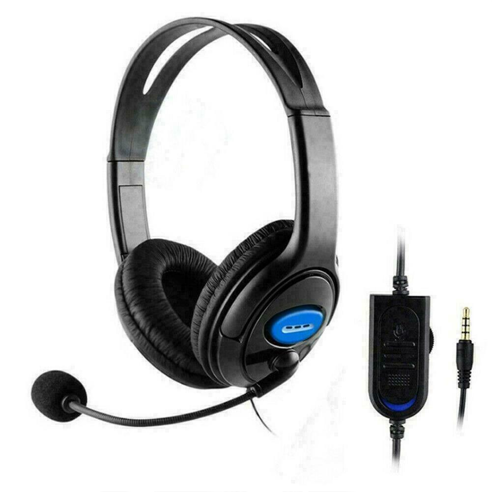 Wired Stereo Bass Surround Gaming Headset For PS4 Mic with One PC GL New C0F7