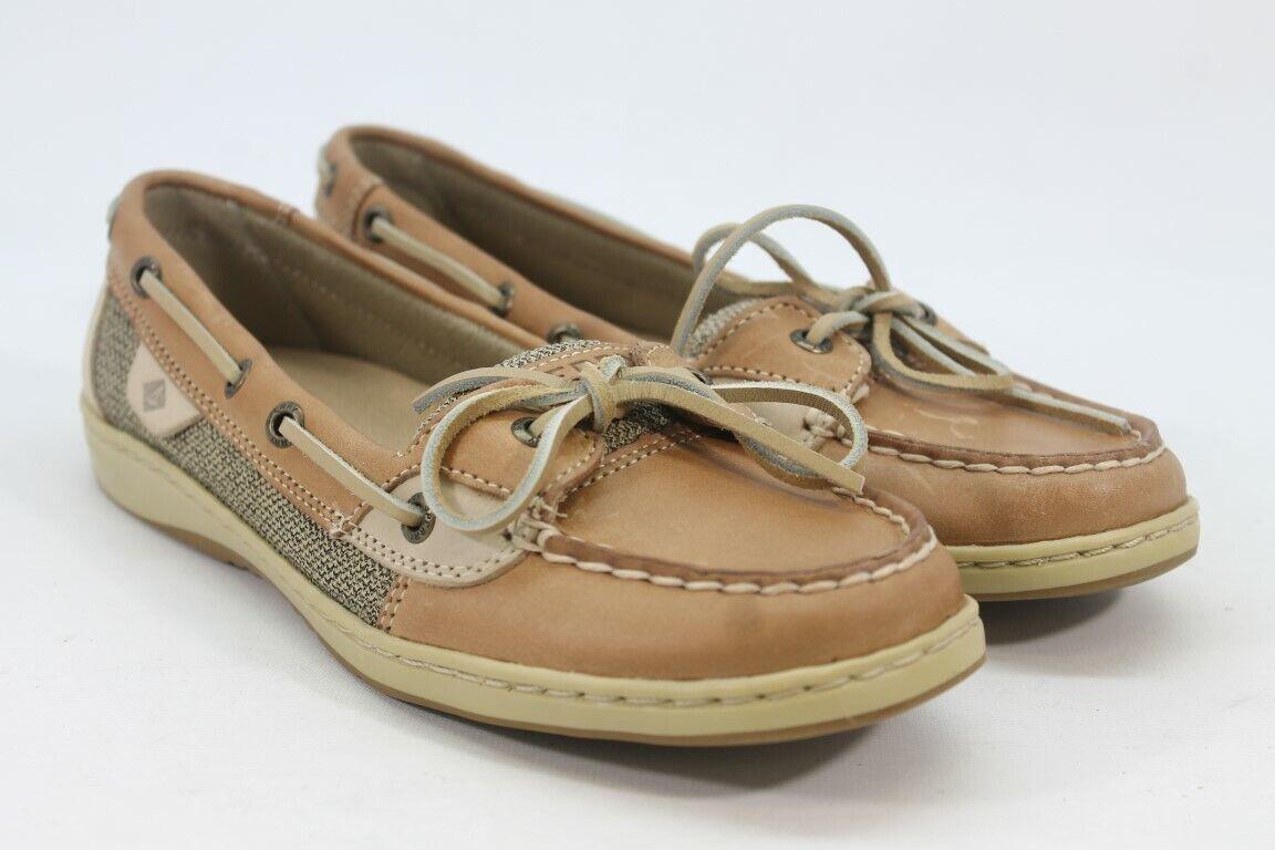 Sperry-Top Sider Angelfish Women's Linen Oat Boat Shoe 8M(ZAP12395)