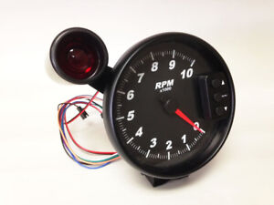 5-034-C2-Black-Pedestal-Tachometer-Peak-Recall-Shift-Light-Black-Bezel-3096BLK