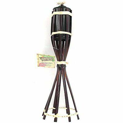 2 Pack Outdoor Lua Tabletop Tiki Torch Bamboo Theme Party Hawaiian Comfortabel En Gemakkelijk Te Dragen