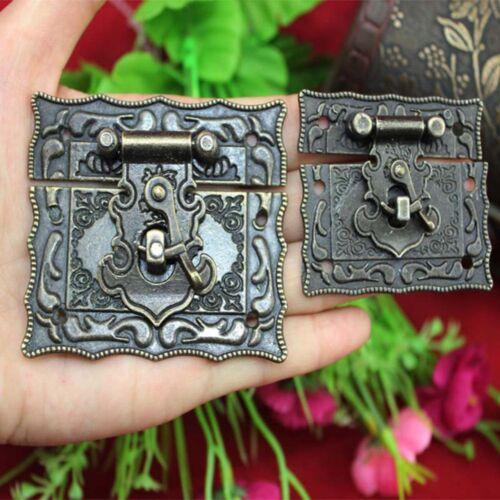 Boîte Armoire 1pc Loquet Bronze Hardware Antique Boucle en Métal moraillons Style