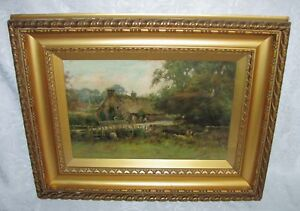 Pintura al óleo sobre lienzo Antiguo escocés Joseph Milne 19th Century