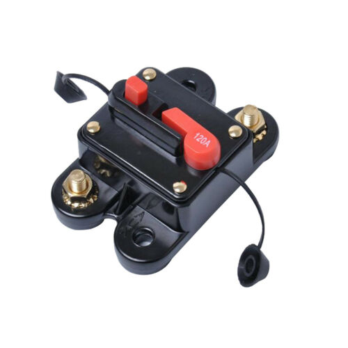 Car Truck Marine Boat Audio 120AMP Circuit Breaker Fuse Holder Reset Switch