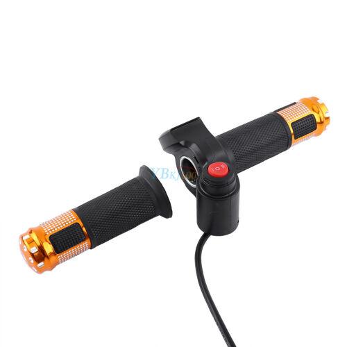 12V-99V Scooter Electric Bike EBike Throttle Grip Handlebar LED Digital Meter SD